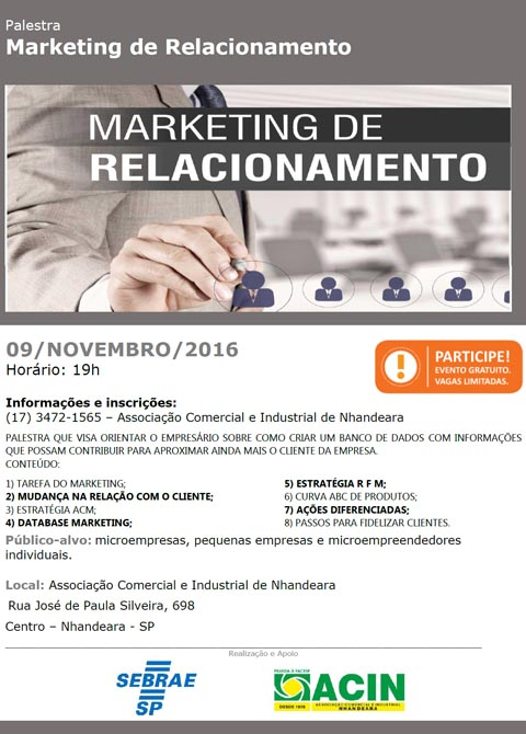 PALESTRA MARKETING DE RELACIONAMENTO